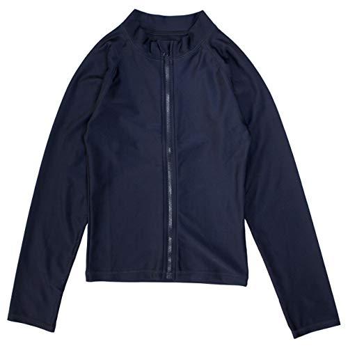 스쿨 수영복 러쉬 가드 소녀 소년 긴 남녀 아이 다크 블루 무지 / School Swimsuit Rush Guard Girls Boys Long Sleeve Boys` Kids Navy Blue Plain