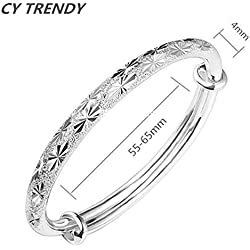 1 X Fashion Women Jewelry Solid 925 Sterling Silver Dolphin Bangle Bracelet Gift