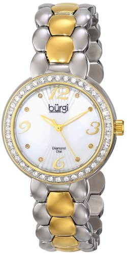 Burgi Women's BUR084TTG Analog Display Swiss Quartz Two Tone Watch