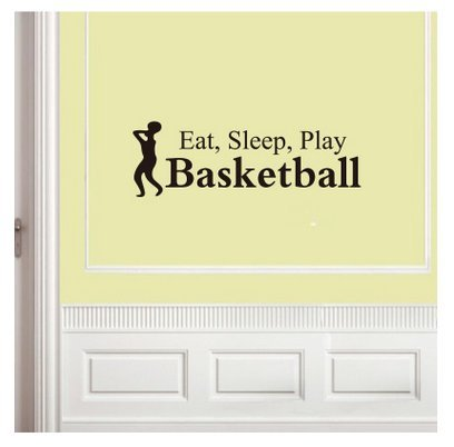 Wall Art Stickers - Wall Decals - Wall Murals 5720cm Basketball Wall Stickerfor Home Decor Decoration - Lounge Bathroom Kitchen Office - Wall Decals Bathroom