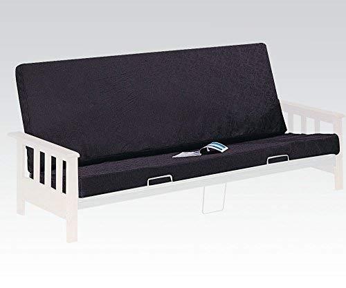 ACME 02808 8-Inch Futon Mattress, Full, Black/Black