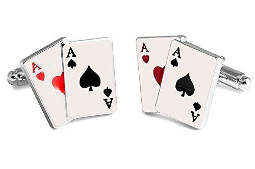 SoloGemelos - Gemelos Cartas De Poker - Plateado - Hombres ...