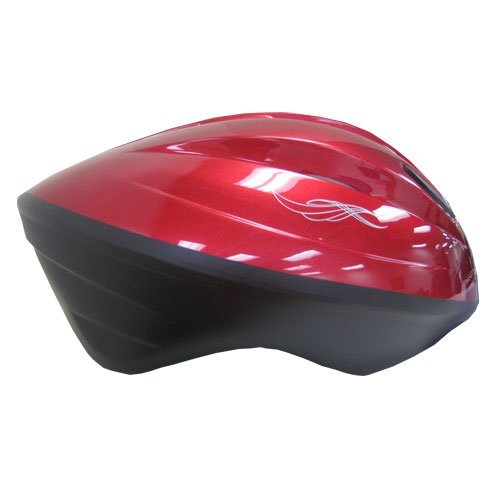 USA Helmet V-10 Adult Bicycle Helmet, Black Cherry