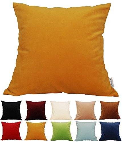 Solid Velvet Throw Pillow Cover/Euro Sham/Cushion Sham,