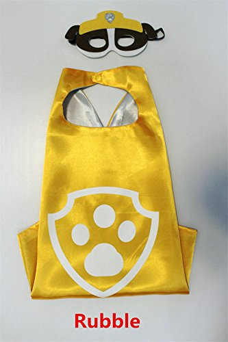Paw Patrol Mask & Cape Costume 27.5 inches (Rubble)