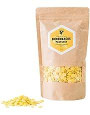 Pura cera d'api naturale - cera d'api gialla in pasticche, in confezione da 200g - ideale per cosmetici naturali e candele fai da te