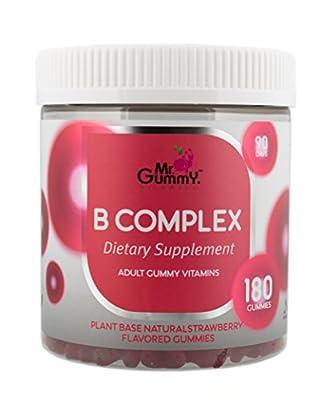 Mr Gummy B Complex Supplement [180 Gummies, 90-Day Supply] | Vitamin B1, B2, B3, B5, B6, B7, B9, B12 & C | Supports Heart & Nervous System Health