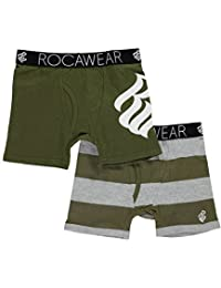 """Rocawear Little Boys' Toddler """"Solid Logo"""" 2-Pack Boxer Briefs"""
