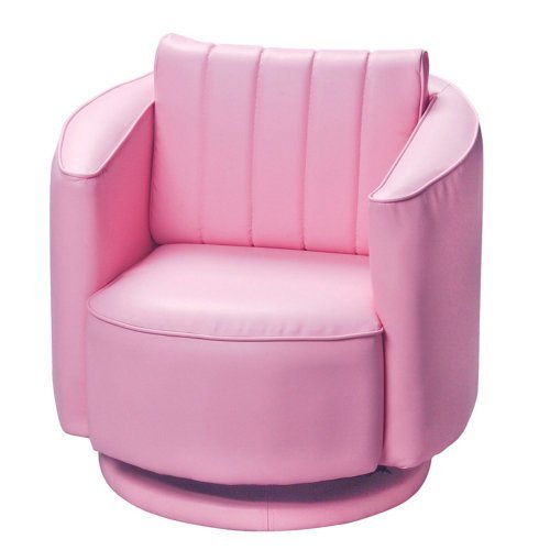 Gift Mark Upholstered Swivel Rocking Chair, Pink
