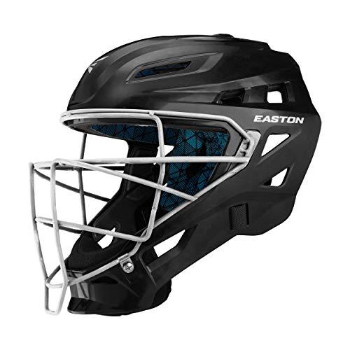 EASTON GAMETIME Baseball Catchers Helmet | Small | Black | 2020 |High Impact Resistant ABS Shell | Shock Absorbing Foam | Moisture Wicking BIODRI liner | Steel Cage | Ergo Chin Cup | NOCSAE Approved