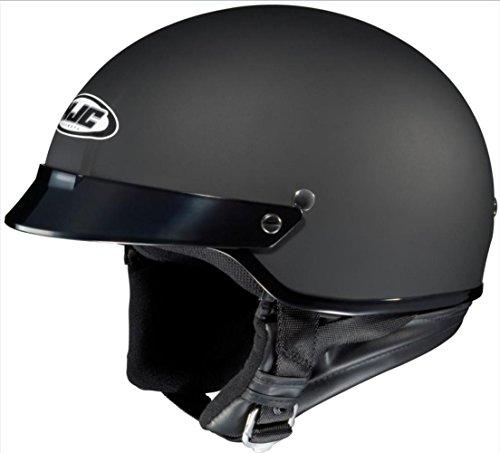 HJC CS-2N Motorcycle Half-Helmet (Flat Black, Medium)