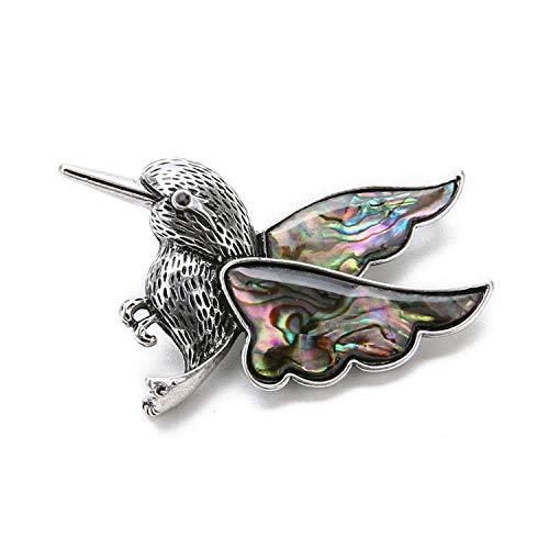 1pcs Woodpecker Shape Charm Shell Natural Sea Paua Abalone Shell Charm for DIY Necklace Jewelry Making Findings Woodpecker