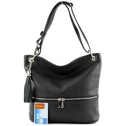 épaule T143 Schwarz cuir modamoda de d'épaule sac ital dames en cuir sac en sac SC7487zOqn