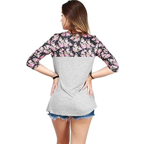 Tefamore Mode Frauen lange Ärmel Hemd lässige Bluse lose Tops T Shirt