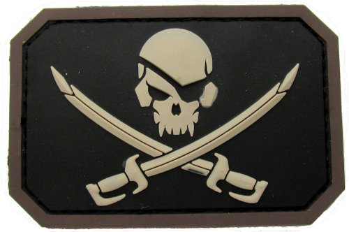 Pirate Skull Flag Morale Patch - PVC )