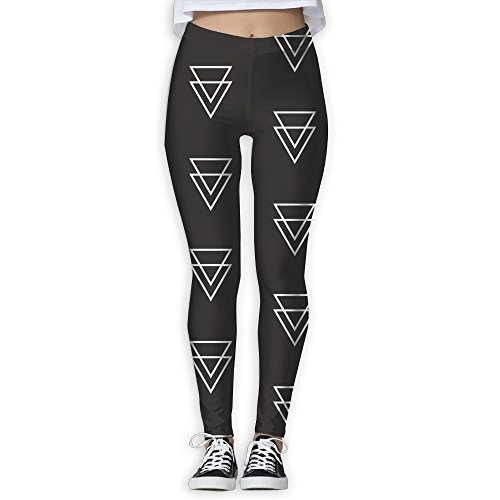 Vivacious Velvet (Womens Gym Falling Triangle Active Yoga Printed Pants Sweatpants)