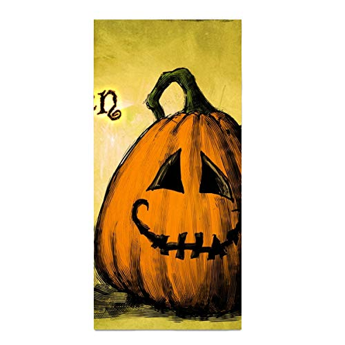 Decorative Bathroom Hand Towels Halloween Pumpkin Jack-o-lanterne Happy