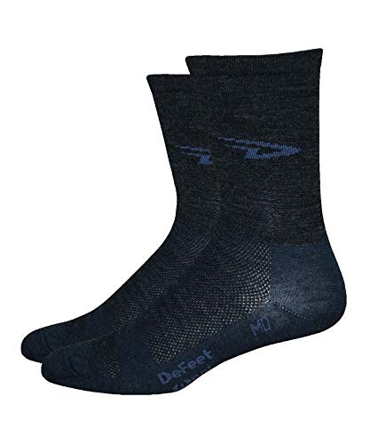 DEFEET Men's Hi-Top Sock, Charcoal, Small