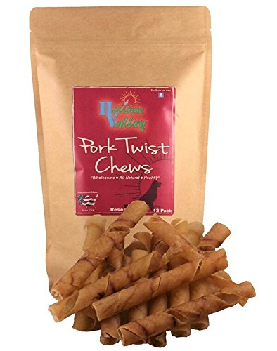 Twist Dog Chews-All Natural-Premium Rawhide Chews Alternative-No Preservatives-No Additives-Sourced and Made In The USA-Healthy Small/Medium Dog Treat-Highly Digestible-12Pk.8
