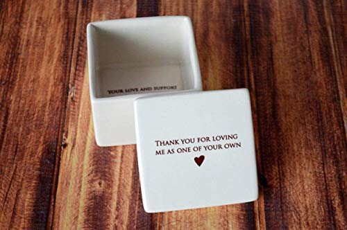 SHIPS FAST - Stepmother Wedding Gift or Birthday Gift - Deep Square Keepsake Box - Thank You For Loving Me As One Of Your Own - With a Gift Box (Best Gifts For Stepmothers)
