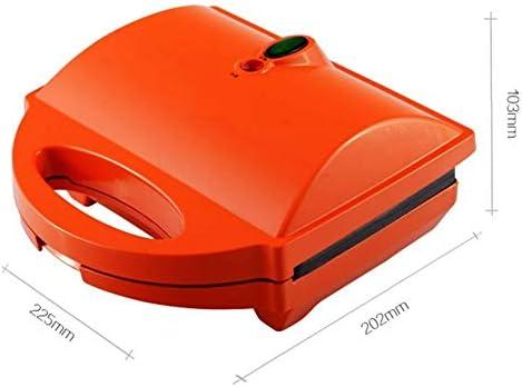 Gaufrier Gaufrier 640W moule en acier inoxydable Revêtement anti-adhésif profond de cuisson Plaques température Commande intelligente de 5 tranches gaufrier professionnel