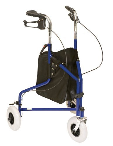 ProBasics 1038BL 3 Wheeled Aluminum Rollator With Loop Brakes Blue