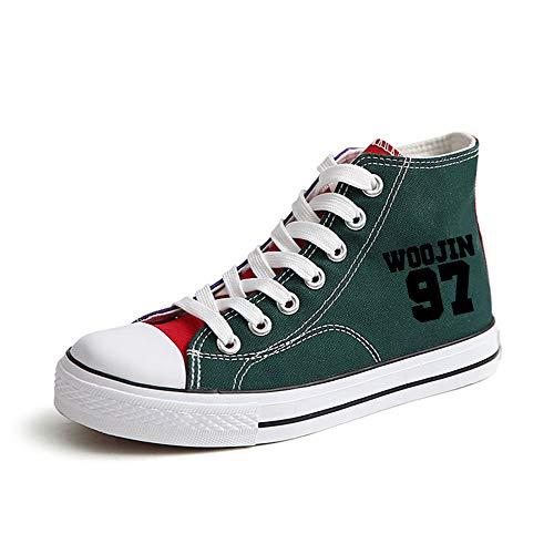 Lacets Unixsex Décontractées Tissu Sport Plates Amoureux Mode Légères Chaussures Printemps En De Stray Kids Green10 À Montantes qfxIIw