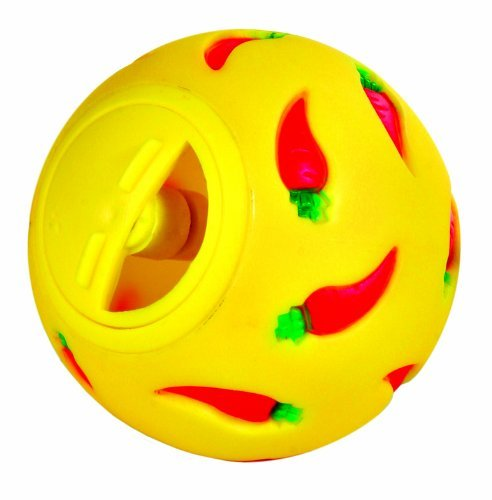 Trixie Plastic Snack Ball, 7 cm, Assorted Colors (Blue/Yellow) ()