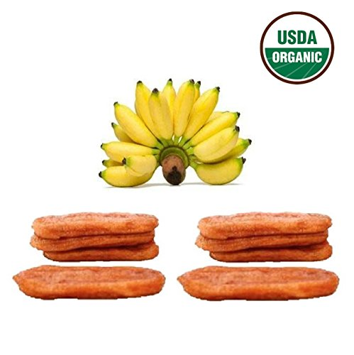 Organic Chewy Banana Sundried Fruit Individual Packaged Snacks (10 packs / 13 oz.)
