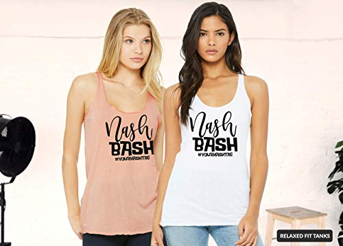 - Nashville Bachelorette Party Tanks, Nash Bash Tanks for Bride and Bridesmaids, Unique Bridal Party Shirt Colors, Design and Sayings for a Memorable Country Themed Party