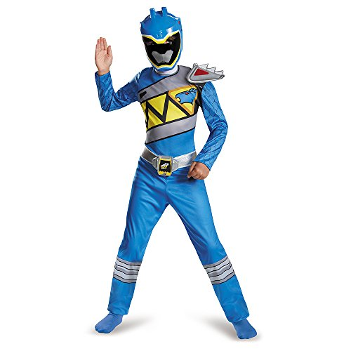 Disguise Blue Ranger Dino Charge Classic Costume, Medium (7-8) (Blue Ranger Helmet)