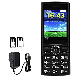 Phone Color Screen Old Man Mobile Phone Student Mobile Phone D1000 2.4in High Definition Mobile Phone Flashlight Cell Phone Dialer US Plug 100-240V (Black)