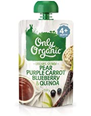 Only Organic Pear Purple Carrot Blueberry & Quinoa  4+ Months - 120g
