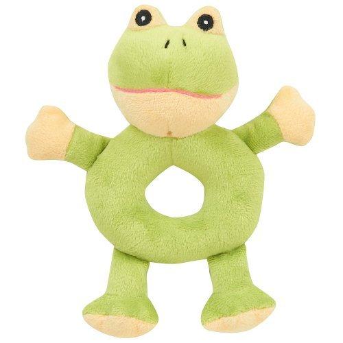 Babies R Us Exclusive Plush Farm Animal Rattles - Green Frog