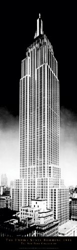New York City Empire State Building (NYC) Decorative Photography Poster Print 12x36