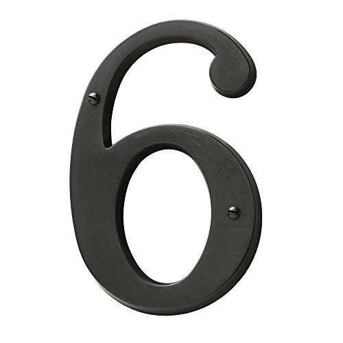 Baldwin Estate 90676.102.CD Solid Brass Traditional House Number Six in Oil Rubbed Bronze, 4.75'' by Baldwin