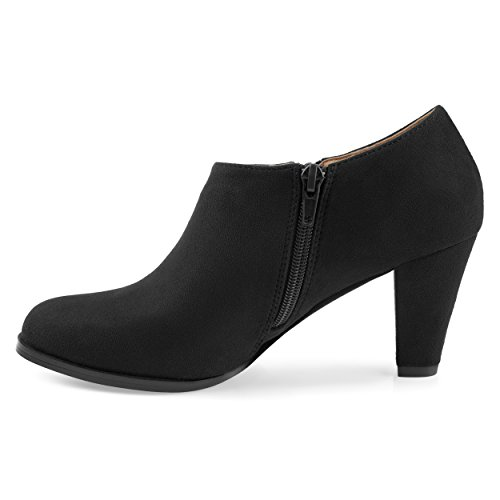 Journee Collection Womens Comfort-Sole Low-Cut Ankle Booties Black trr7WV7X