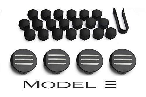 Aero Wheel Cap Kit for Tesla Model 3 - Full Set (4 Center Caps & 20 Lug Nut Covers) (Aero Model)