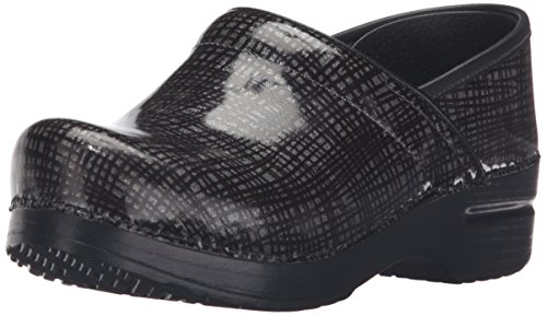 Unisex Criss Cross Back Support - Dansko Women's Professional Mule, Silver/Black Crisscross, 38 M EU / 7.5-8 B(M) US