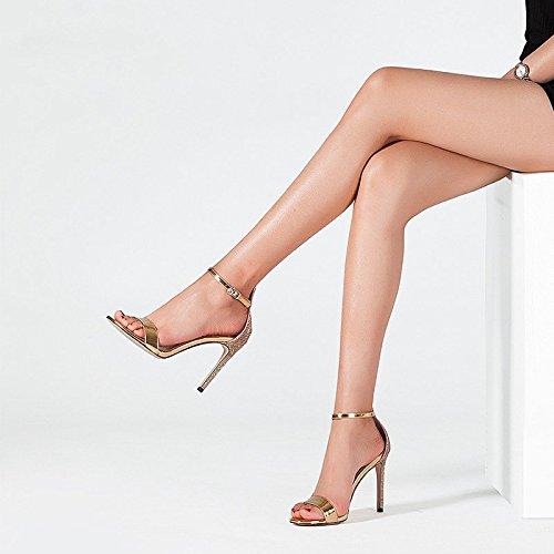 Hebillas 3 5 uk Verano Oro 5cm Eu us Mujeres color 22 Jianxin Bien Tamaño Las Sexy De 35 Tacones Abierta Femeninas Altos Zapatos Oro jp Con Sandalias Punta qxw1Bzg