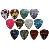 12 x rockpicks - Mediators pour guitares et basses 3 forces différentes