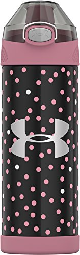 Under Armour Protege 16 Ounce Stainless Steel Water Bottle, Pink Nova