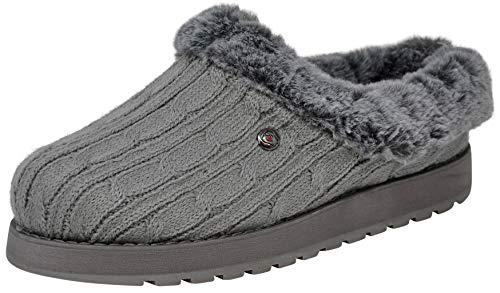 Skechers BOBS from Women's Keepsakes Ice Angel Slipper, Grey, 9 M US