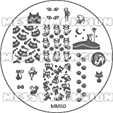 MESSY MANSION MM50 Nail Art Stamping Plate - Cats and Kittens theme