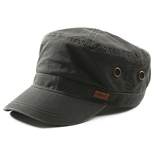 Cadet Baseball Cap Hat (SIGGI Unisex Mens Cotton Army Caps Military Hats Baseball Sun Hat Trucker Cadet Combat Cap for Men 61-64CM Green)
