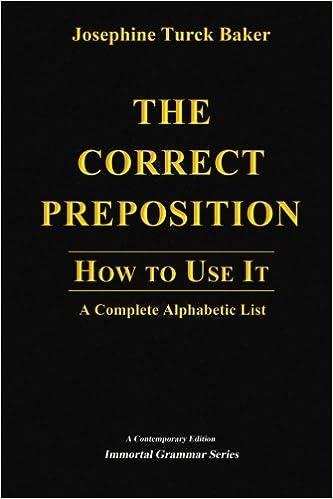 Lataa ilmaisia Kindle-kirjoja tietokoneelle The Correct Preposition: How to Use It - A Complete Alphabetic List in Finnish PDF FB2 iBook