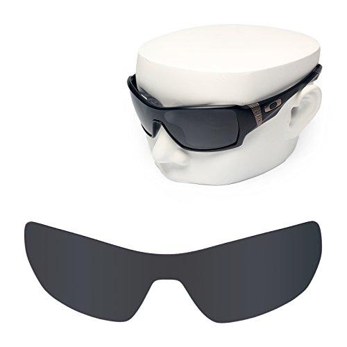 OOWLIT Replacement Sunglass Lenses for Oakley Offshoot Black Dark - Sunglasses Custom Make