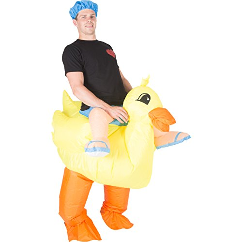 [Bodysocks - Inflatable Ride Me Adult Carry On Animal Fancy Dress Costume (Duck)] (Duck Costumes Adult)