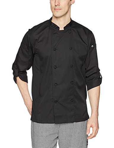 Chef Works Men's Bowden Chef Coat, Black, Medium by Chef Works
