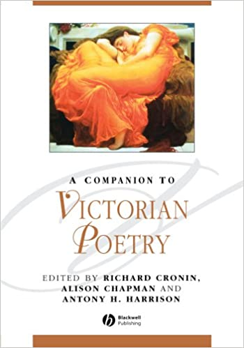 A companion to victorian poetry richard cronin antony harrison a companion to victorian poetry 1st edition fandeluxe Image collections